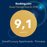 Guest Review Award 2018 Vonelf Luxury Apartments